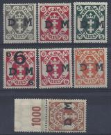 Germany (Danzig) 1922 Dienstmarken  (**) MNH  Mi.22-28 (see Scans + Discription) - Danzig