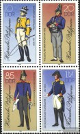 DDR 2997II-3000II Block Of Four (complete Issue) Unmounted Mint / Never Hinged 1986 Postal Uniforms - Ungebraucht