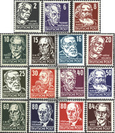 DDR 327-341 (complete Issue) Unmounted Mint / Never Hinged 1952 Personalities - Unused Stamps