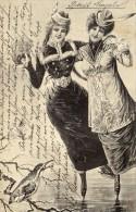 CPA   ART NOUVEAU  ALLEMAGNE---PATINEUSES---1905 - Illustrateurs & Photographes