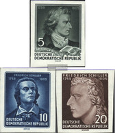 DDR 464B-466B (complete Issue) Unmounted Mint / Never Hinged 1955 150.Death Of Schiller - Nuevos