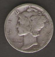 U.S.A. - STATI UNITI D' AMERICA - ONE DIME ( 1923 ) Mercury - AG SILVER - Emissioni Federali