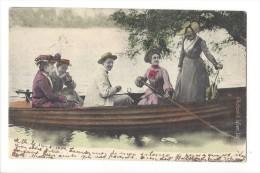 12521 - Couples à Bord D'une Barque  Ch Scolik Wien VIII - Autres Illustrateurs