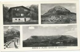 NANOS S PLESO IN RAZDRTO, VOJKOVA KOCA , Old Postcard - Slowenien
