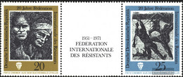 DDR WZd251 (complete.issue) (1680-1681 With Zierfeld) Unmounted Mint / Never Hinged 1971 Resistance Struggle - Se-Tenant