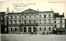 Belle   Cpa -   Chalon Sur Saône -  Hôtel De Ville        ,animée               D153 - Chalon Sur Saone