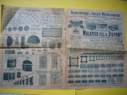 Rare Pub Illustrée 19 ème Mulatier Fils & Dupont Lyon Manufacture De Toiles Métalliques - Publicités