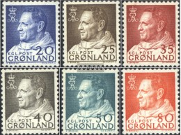 Denmark - Greenland 52-57 (complete Issue) Unmounted Mint / Never Hinged 1963 King Frederik IX. - Groenlandia