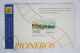 First Railway Train In Spain: Barcelona Mataro Phone Card -National Railway Museum Madrid -Primer Ferrocarril En Espa&nt - Trenes