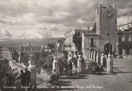 MESSINA - TAORMINA - PIAZZA S. AGOSTINO CON LA SEICENTESCA TORRE DELL'OROLOGIO - Messina