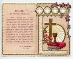 Santino Fustellato NUOVO, MODLITBA PO SVATÉM PRIJIMÁNÍ - Ristampa Tipografica Da Santino Antico - PERFETTO L26 - Religion & Esotericism