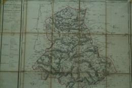 87 - RARE CARTE GEOGRAPHIQUE HAUTE VIENNE LE 25-01-1790 PAR ASSEMBLEE NATIONALE-LIMOGES-SAINT JUNIEN-BELLAC-SAINT YRIEIX - Carte Geographique