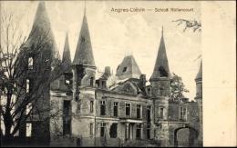 Cp Angres Liévin Pas De Calais, Blick Auf Das Schloss Rollencourt, Kriegszerstörungen - France