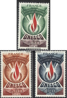 France DB13-DB15 (complete Issue) Unmounted Mint / Never Hinged 1975 UNESCO-Emblem - Service