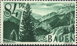 Franz. Zone-Baden 12III Screen About 4 Eingebuchtet (Field 39) Unmounted Mint / Never Hinged 1947 Clear Brands - French Zone