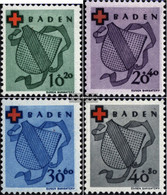 Franz. Zone-Baden 42A-45A (complete.issue.) Unmounted Mint / Never Hinged 1949 Red Cross - Zone Française