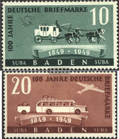 Franz. Zone-Baden 54-55 (complete.issue.) Unmounted Mint / Never Hinged 1949 100 Years Stamps - French Zone