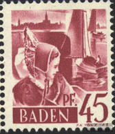 Franz. Zone-Baden 9II, Mutilated N Unmounted Mint / Never Hinged 1947 Clear Brands - Zone Française