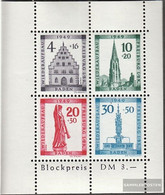 Franz. Zone-Baden Block1a (complete Issue) Unmounted Mint / Never Hinged 1949 Freiburg - French Zone