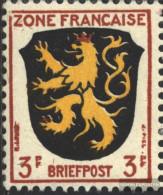 Franz. Zone-community. Issue. 2I, Rahmenecke Broken (Field 93) Unmounted Mint / Never Hinged 1945 Crest - Zone Française