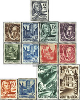 Franz. Zone-Württemberg 1-13 (complete Issue) Unmounted Mint / Never Hinged 1947 Clear Brands - French Zone