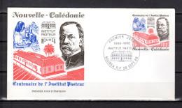 """NOUVELLE-CALEDONIE 1988 Env. 1er Jour """" LOUIS PASTEUR /  NOUMEA Le 28-09-1988 """" N° YT 563. Parf état. FDC - Louis Pasteur"""