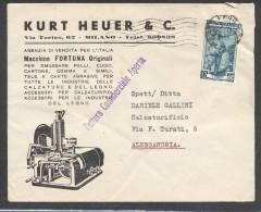 "9777-DITTA KURT HEUER E C. - MACCHINE ""FORTUNA"" ORIGINALI - MILANO - 1953 - Publicidad"