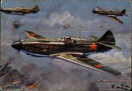 AVIATION  MILITAIRE - AVION - Dessin De Petit - LAG 3 - Avion Russe - 1939-1945: 2ème Guerre