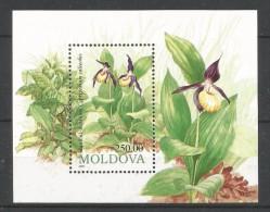 Moldavie 1993 Orchids BF 4 *** - Orchideeën
