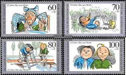 FRD (FR.Germany) 1455-1458 (complete.issue) Unmounted Mint / Never Hinged 1990 Max And Moritz - BRD