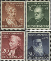 FRD (FR.Germany) 156-159 (complete Issue) Unmounted Mint / Never Hinged 1952 Welfare - Unused Stamps