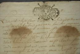 1730 Généralité D´Auch Et Pau Document à Déchiffrer Signé Au Muret, Joli Cachet - Manuscripten