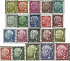 FRD (FR.Germany) Mi.-number.: 177x-196x (complete Issue) Unmounted Mint / Never Hinged 1954 Heuss I - Unused Stamps