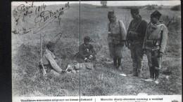 80, TIRAILLEURS MAROCAINS SOIGNANT UN BLESSE ALLEMAND PRES DE VILLEROY, CACHET CROIX ROUGE AU VERSO, 2 SCANS - Cruz Roja