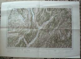 Carte D'Etat- Major Ancienne De GRENOBLE Gravée, Dressée Et Publiée Par Le Service Géographique De L'Armée 6 Scans TBE - Mapas Topográficas