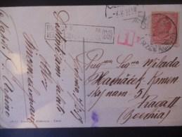 Italie Carte De 1918 Pour Praga Avec Cachet Verificado Por Censura - Poststempel