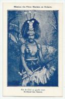 CPA Archipel Des Samoa - Fils De Chef En Grande Tenue - Missions Des Pères Maristes En Océanie - Samoa