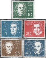 FRD (FR.Germany) 315-319 (complete Issue) Unmounted Mint / Never Hinged 1959 Ludwig Van Beethoven - Ungebraucht