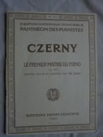 Ancienne Partition - PANTHEON DES ARTISTES -CZERNY Op. 599 Par Th. LACK 1961 - A-C