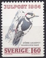 BIRDS  WOODPECKER Dendrocopos Major SPECHT PICCHIO CORRIENTE SWEDEN SUEDE SCHWEDEN 1984 MI 1309 MNH - Songbirds & Tree Dwellers