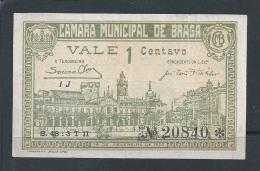 BRAGA Ballot.Portugal.1920 Ballot 1C Braga Municipal Council Nº. 20840.Plays Town Hall.Good Condition. Rare. 2 Scans - Portugal