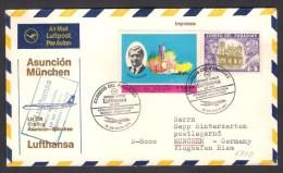 FFC - First Flight Cover LUFTHANSA LH 509 - Asuncion To Munchen 14.5.1971 - Paraguay