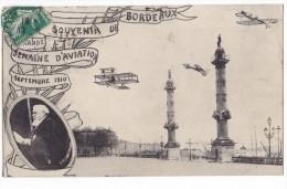 SOUVENIR DE BORDEAUX. - GRANDES SEMAINE D'AVIATION Septembre 1910 - Bordeaux