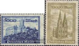 German Empire 261-262 (complete Issue) Unmounted Mint / Never Hinged 1923 Wartburg And Cologne Dom - Nuovi