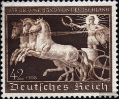 German Empire 747 (complete Issue) Unmounted Mint / Never Hinged 1940 That Brown Tie Horse Racing - Germany