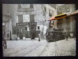POSTAL 1922 TRANVIA Nº 38 BARCELONA Plaza SANTA ANA - ACADEMIA COTS - Tranvía