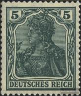 German Empire 85II D Tested KriegsDruck With Hinge 1905 Germania - Unused Stamps