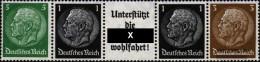 German Empire Egs2, Einheitsgeberstreifen For Automata Unmounted Mint / Never Hinged 1940 Hindenburg - Alemania