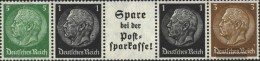 German Empire Egs3, Einheitsgeberstreifen For Automata Unmounted Mint / Never Hinged 1940 Hindenburg - Alemania
