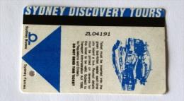 Australia - 2005 , Ticket Discovery Sidney Used - Autobus